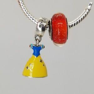 Pandora Disney Snow White Dress Charms red murano